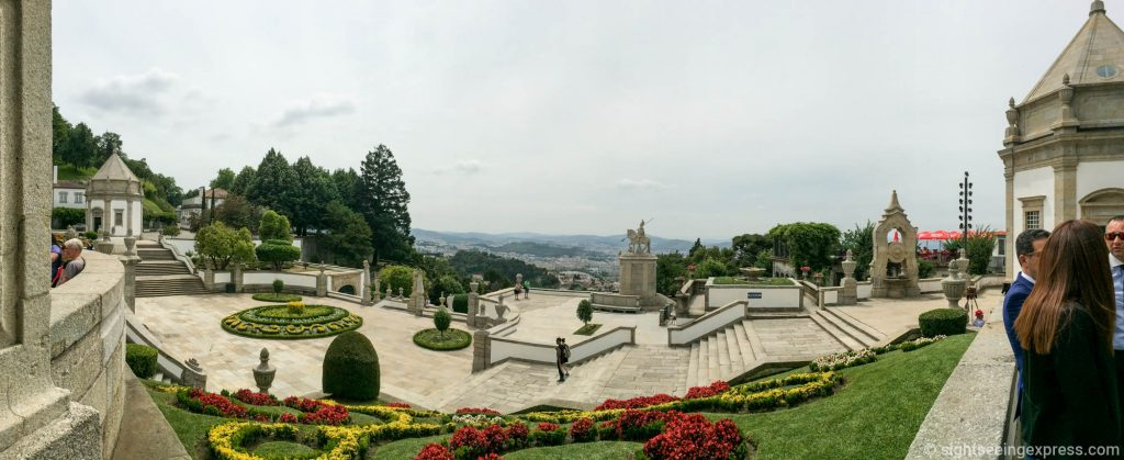 Panoramic picture from Bom Jesus do Monte looking over Braga