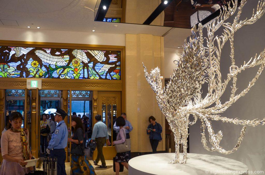 The Platinum Phoenix sculpture