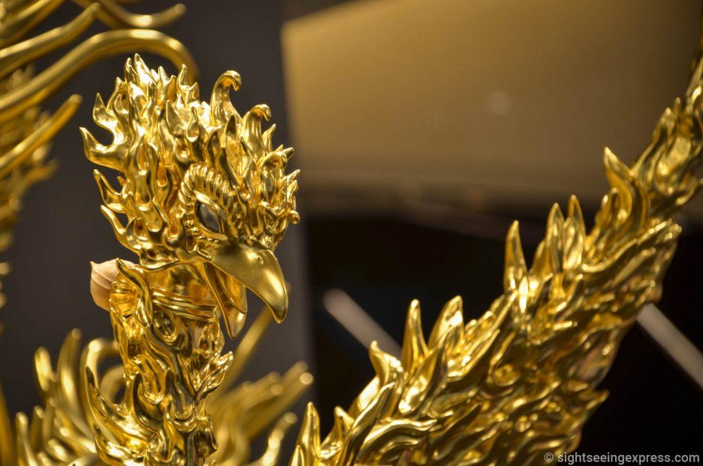 The golden Phoenix sculpture