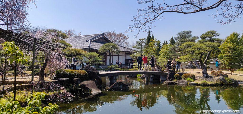 Japanese garden near Himeji Castle