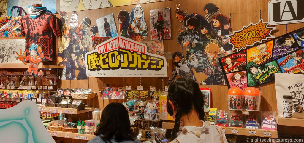 My Hero Academia section at the JUMP store