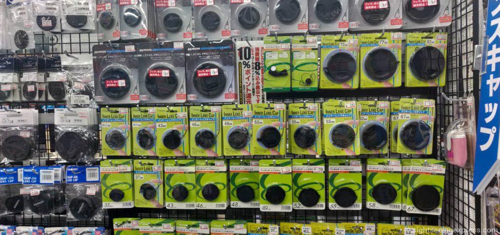 lens covers at Yodobashi Umeda