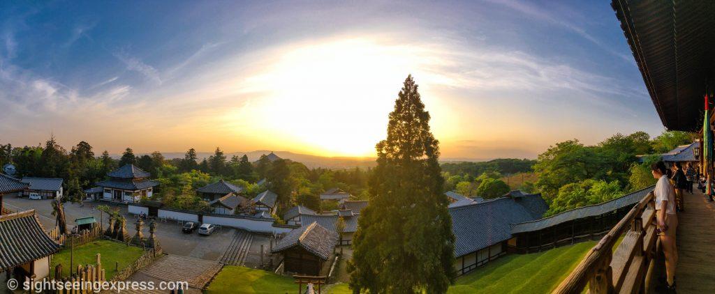 Nigatsu-do hilltop gall HDR image