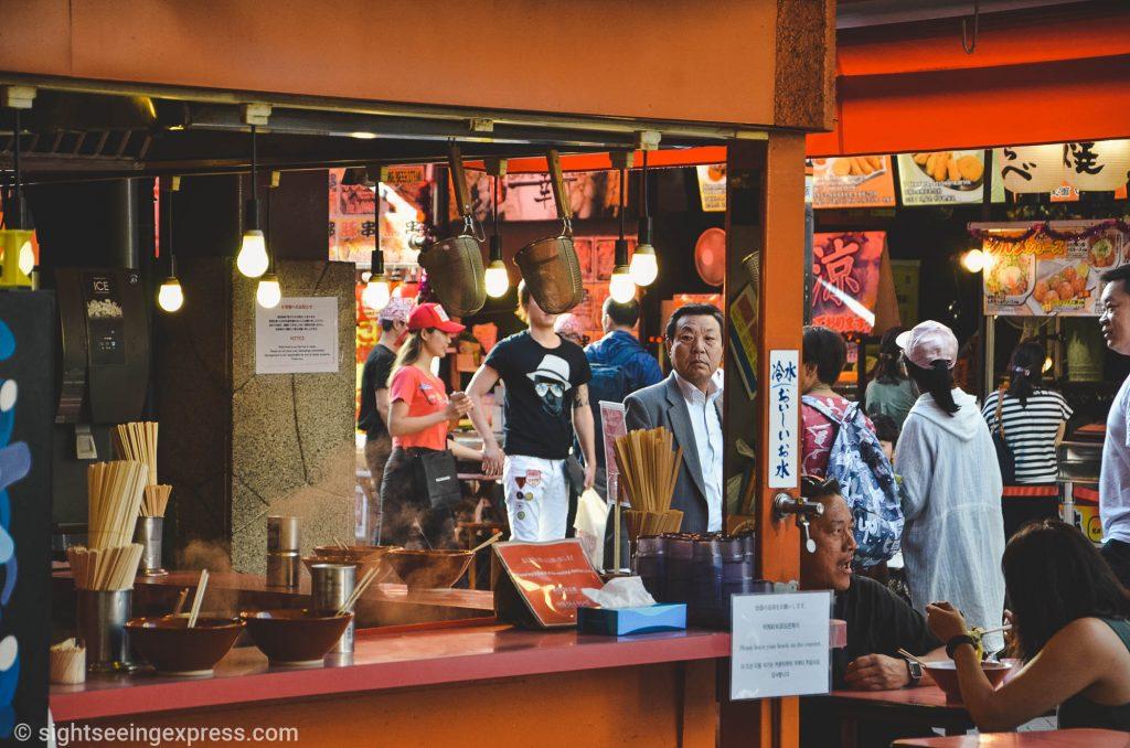 Japanese soup shop at Dotonbori