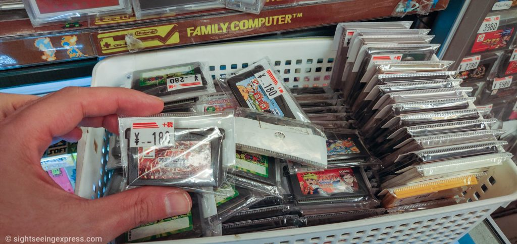 Family Computer videogame cartridges