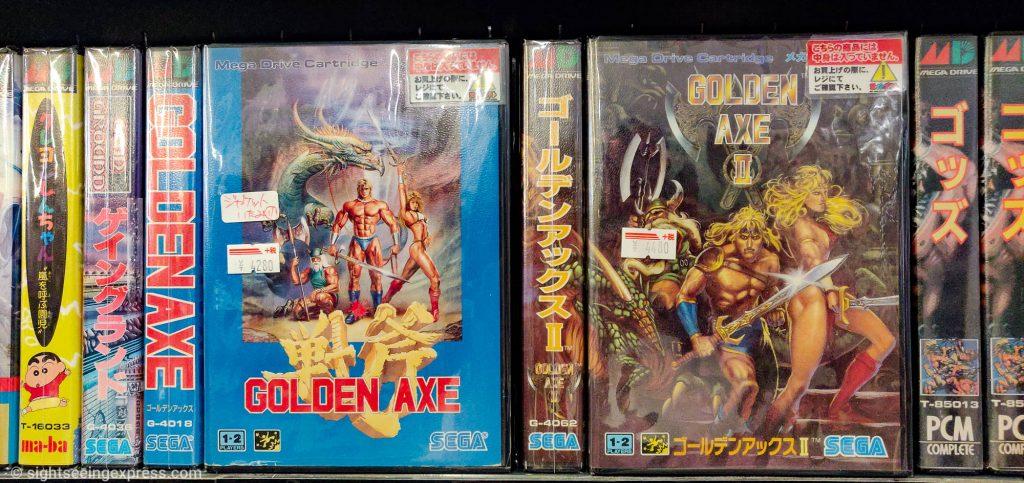 Golden Axe and Golden Axe II video games by Sega