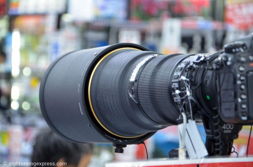 Huge Sigma lens mounted on a Nikon DSLR camera